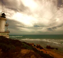 Stormy skies, Lighthouse - Queenscliffe by kenea
