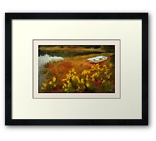 Rivers Edge, Cushing ME Framed Print