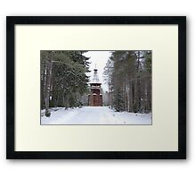 A church in the forest Framed Print