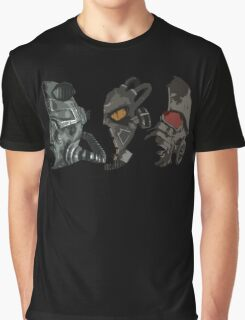 Fallout - Power Armor Helmets Graphic T-Shirt
