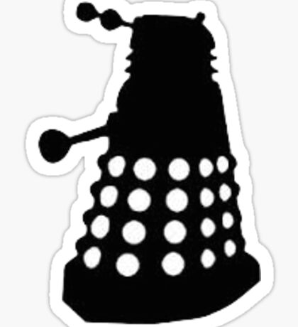 Dalek - Black and White Sticker