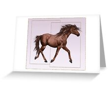 Horse 9 .. calendar Greeting Card