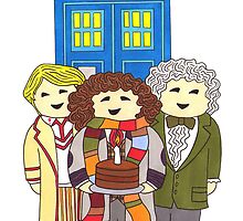 Doctor Who Birthday Card (Classic Doctors) by HappyDoctors