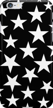 Black and White Stars iPhone Case by giraffoarts