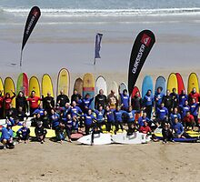 Most surfers on a wave world record, Anglesea. 1 by pgmarsh