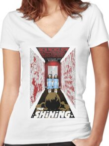 The Shining Grady Twins Women's Fitted V-Neck T-Shirt