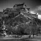 Edinburgh Castle Mono by Paul  Gibb