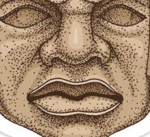 Olmec Head Sticker