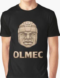 Olmec Head Graphic T-Shirt