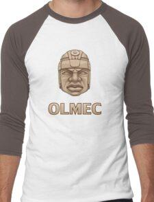 Olmec Head Men's Baseball ¾ T-Shirt