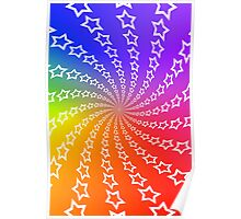 Star Spiral & Color Wheel Background Poster