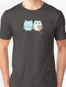 Owls Wedding Bride and Groom Unisex T-Shirt