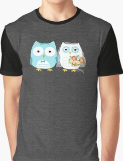 Owls Wedding Bride and Groom Graphic T-Shirt