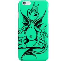 Funny Dragon - Light Green iPhone Case/Skin