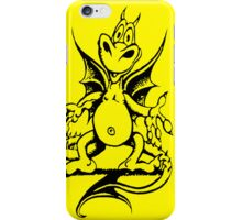 Funny Dragon - Yellow iPhone Case/Skin