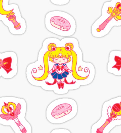 Moon Prism Power...Donuts! Sticker