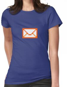 Orangered mail Womens Fitted T-Shirt