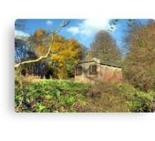 Little railway building  Canvas Print