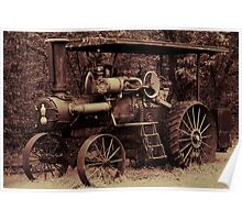 1923 Case Steam Tractor Poster