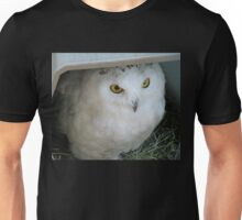 Snowy Owl in Shelter Unisex T-Shirt