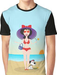 Martini girl Graphic T-Shirt