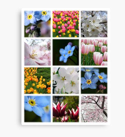Spring Flowers Montage 1 Canvas Print