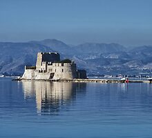 The castle of Bourtzi (Nafplio) by elenkalo