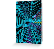 Dark Abstract 3D Construct Greeting Card