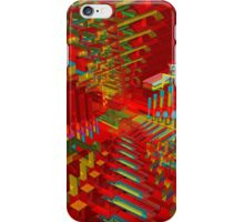 Red Abstract 3D Construct iPhone Case/Skin