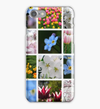 Spring Flowers Montage 1 iPhone Case/Skin