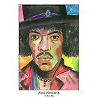 Jimi Hendrix by StevieRiksArt
