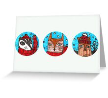 Christmas Animals (landscape) Greeting Card