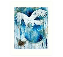 Shelter in His Wings Art Print