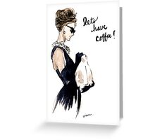 Audrey Hepburn Breakfast at Tiffany's Invitation Greeting Card