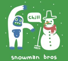 Snowman Bros One Piece - Short Sleeve