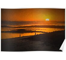 South Beach Sunset Poster