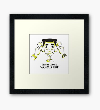 Mummy Daddy's World cup Framed Print