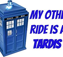 My other ride/phone is a TARDIS by Grace-Moxley