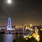 Full Moon over London by Michiel Meyboom