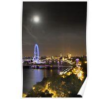 Full Moon over London Poster