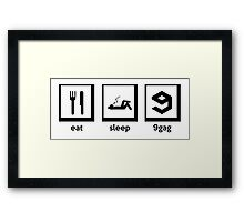 eat, sleep, 9gag Framed Print