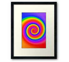 Psychedelic Color Swirl Framed Print