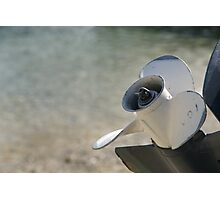 Boat propeller close up, Salcombe, Devon, UK Photographic Print