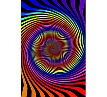 Colorful Psychedelic Spiral Pattern Photographic Print