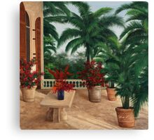 TUSCAN PATIO by Diane Romanello Canvas Print