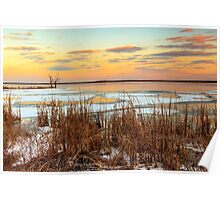 Sunset at Emiquon National Wildlife Refuge Poster
