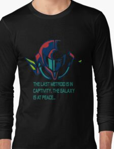 SUPER METROID DEBRIEFING Long Sleeve T-Shirt