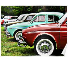 Renault Dauphine in line Poster