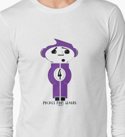 Pocket Pool League (Purple Ball) Long Sleeve T-Shirt