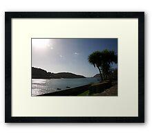 View across Salcombe estuary, Devon, UK Framed Print